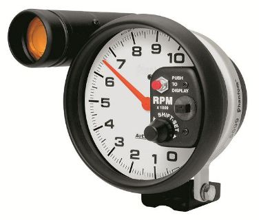 """Purchase Auto Meter 5899 Phantom 5"""" Pedestal Mount Shift-Lite Tachometer 10,000 RPM motorcycle in Greenville, Wisconsin, US, for US $308.17"""