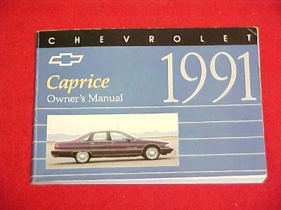 Buy 1991 ORIGINAL CHEVROLET CAPRICE OWNERS MANUAL SERVICE GUIDE BOOK 91 GLOVEBOX OEM motorcycle in Leo, Indiana, US, for US $6.99