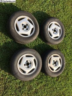 Set of 4 VW 13 inch OEM Hockenheim Wheels 4x100