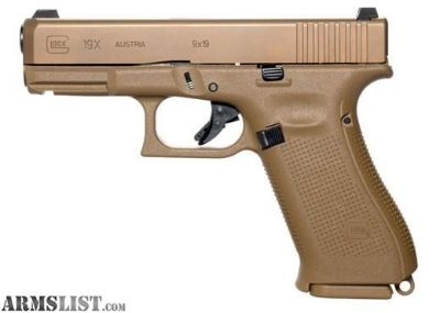 """For Sale: NEW GLOCK G19X G5 9MM 19+1 4.0"""" FDE GNS"""