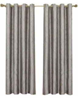 """100% POLYESTER LINED CURTAIN (2) PANELS. 84""""L"""