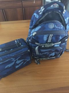 EUC small pottery barn backpack and lunchbag
