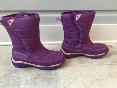 Girls (Youth) Lands End Snow Boots - Purple Size 5 (Like NEW!)
