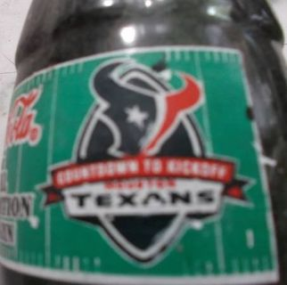 15 Inaugural Season Coke-Cola TEXANS Countdown to Kickoff Bottles. 02