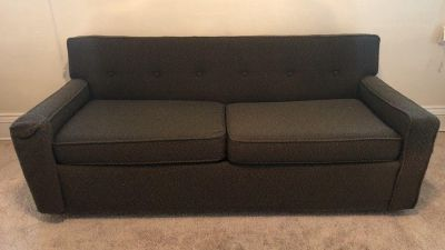 Vintage mid century pull out couch