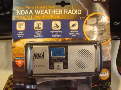 New LaCrosse NOAA Weather Alert Radio hand crank
