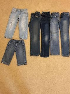 Lot of girls size 8 jeans and capris