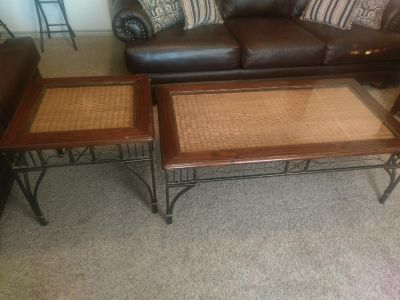 Coffee table and wine cabinet