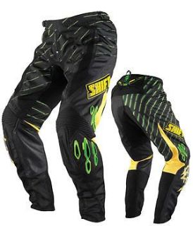 Sell NEW SHIFT RACING MENS ADULT GREEN FACTION ARCADE MX ATV RIDING PANTS W36 W 36 motorcycle in Monroe, Connecticut, United States, for US $50.00