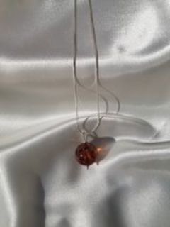 Baltic Amber with silver necklace