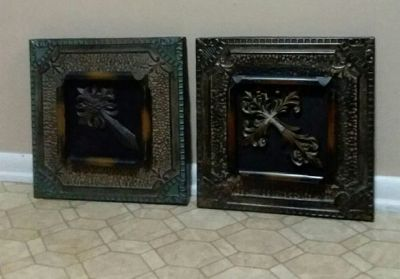 TWO/CROSS/WALL DECOR.......EXCELLENT USED CONDITION