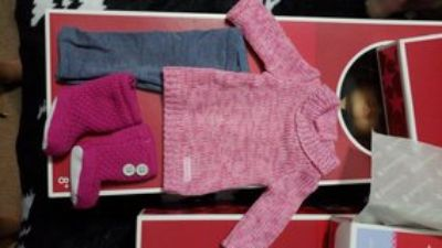 American Girl doll cozy sweater outfit