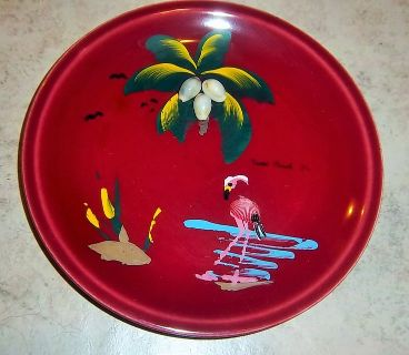"Miami Beach, Florida 7 1/2"" Plate with sea shells"