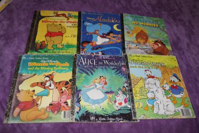6 Vintage Disney Golden Books Hardcovers 70's, 80's and 90's