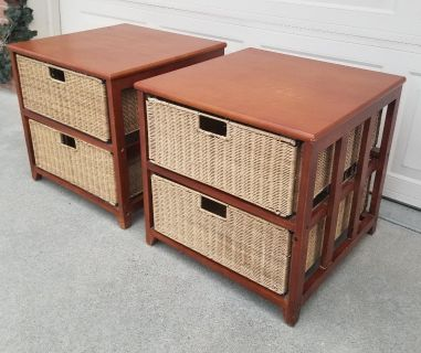 Matching End Tables or Night Stands with Storage