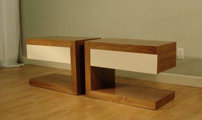 Handmade Mid-Century Influenced Modern Side Tables