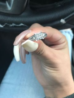 White-gold wedding ring
