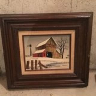 Hargrove oil painting on canvas and wood frame