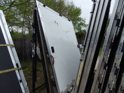 "Sell Trailer Door, 91""X94"", Rear Trailer Door Ramp, New, White, With Screen Area, #58 motorcycle in Adrian, Michigan, United States, for US $500.00"