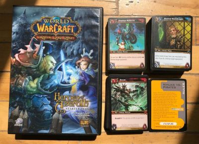 WORLD OF WARCRAFT TCG - Heroes of Azeroth (148 Cards) + Icecrown (196 Cards)
