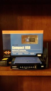Linksys Wireless Router and USB Adapter