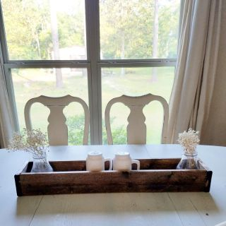Beautiful wooden planter or center piece