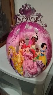 child's Disney Princess bicycle helmet with attached tiara