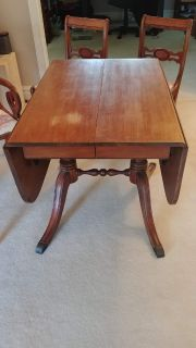 Antique Dining Table and Chairs - Duncan Phyfe style