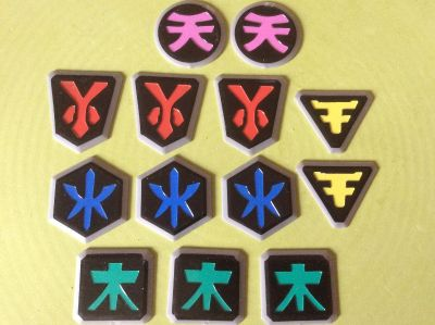 14 Power rangers medallions 1.5 + Ajax, Ontario Pu Westney & finley sfpf - another pink not shown