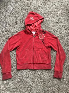 Mudd Girl s Embroidered Velour Jacket, Size M