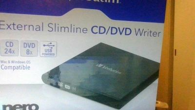 verbatim External CD/DVD Writer