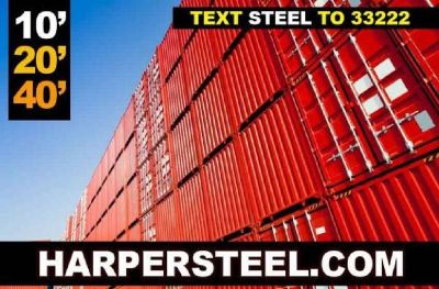 Tall Steel Containers for sale! Delivery avalaible