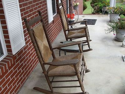 ROCKERS (2) OAK ROCKING CHAIRS $75 EACH 423-538-4195