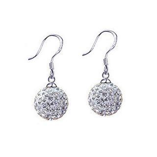 Crystal Ball Earrings + Free Shipping