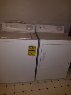 Matching electric washer and dryer