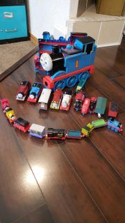 Thomas tmTrains and Carrying Case Lot