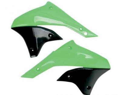 Find UFO Plastics Replacement Plastic Radiator Cover Green/Black (KA03789-026) motorcycle in Holland, Michigan, United States, for US $56.37