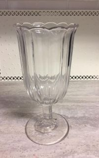 "Antique Victorian Collectible Glass Celery Vase. 8.5"" Tall in Excellent Condition! CP."