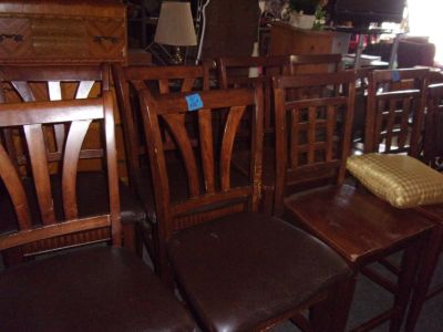 Set of Four Bar Style Padded Chairs