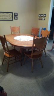 Antique style table and chairs