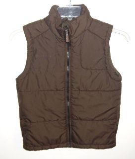 Columb1a Boys Medium 10/12 Dark Brown Puffer Vest
