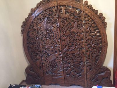 Hand carved screen