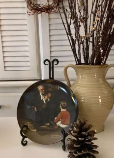 Norman Rockwell s the tycoon collection collector plate