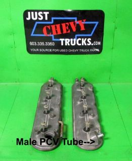 Find Chevy LS Silverado Sierra OEM LS Valve Covers with Bolts & Gaskets PAIR Male PCV motorcycle in Lebanon, Maine, United States, for US $59.95