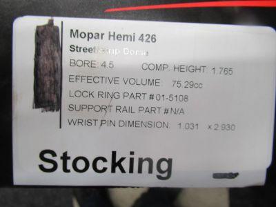 4,5 bore HEMI piston pkge