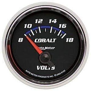 Find Autometer 2-1/16in. VOLTMETER; 8-18V SSE; COBALT motorcycle in Acworth, Georgia, US, for US $69.48