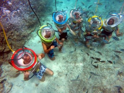 Helmet diving in Mauritius – Discover the Underwater World from Within