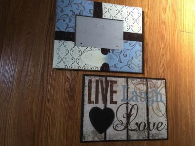 Picture frame and sign