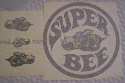 Find MOPAR 1971 SUPER BEE HOOD DECAL QUARTER PANEL RIGHT LEFT AND TRUNK DECAL SET motorcycle in Sebastian, Florida, US, for US $65.00