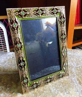 4X6 Hobby Lobby Picture Frame, Green/Turquoise/Golden Colours, BRAND NEW, MORE INFO w/ PHOTOS